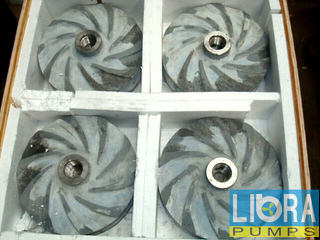 Slurry pump ceramic impellers