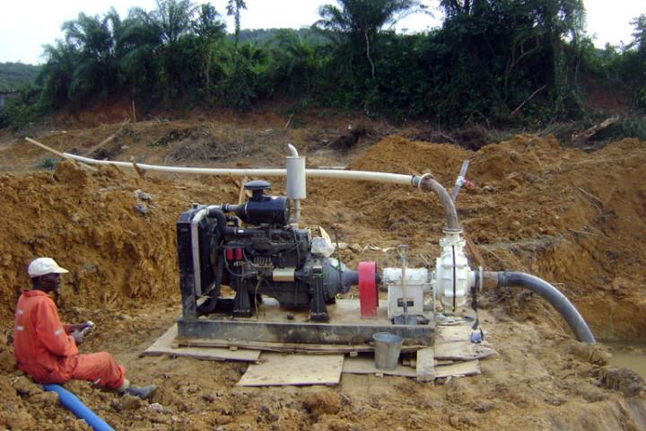 Dewatering pump in Ghana