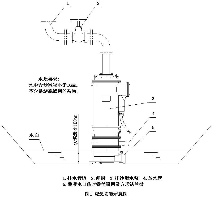 Vertical sand pump Emergency installation