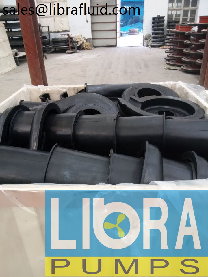 Rubber slurry pumps spare parts in stock (2)