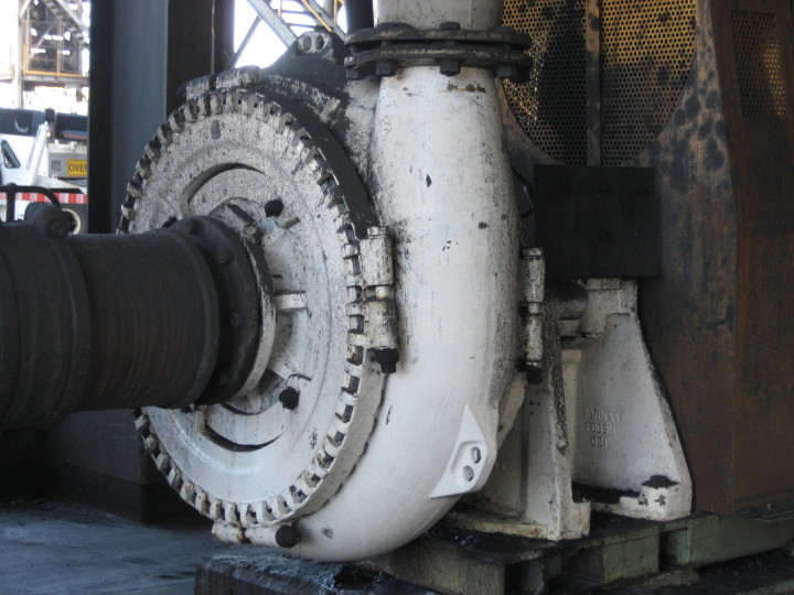 centrifugal slurry pump working on coal mine