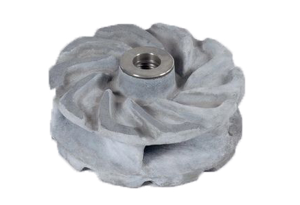 Ceramic slurry pump impeller