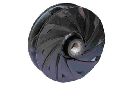 Rubber slurry pump impeller