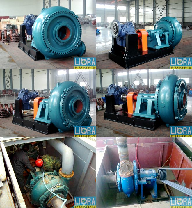 sand gravel pump assembly in factory