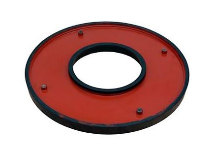 Rubber slurry pump frame plate liner insert