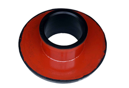 Rubber slurry pump throat bush