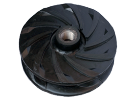 Rubber slurry pump impeller
