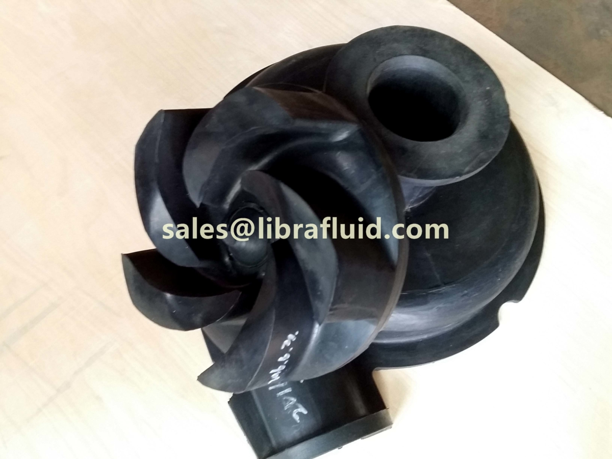 Hypalon slurry pump impeller and liner