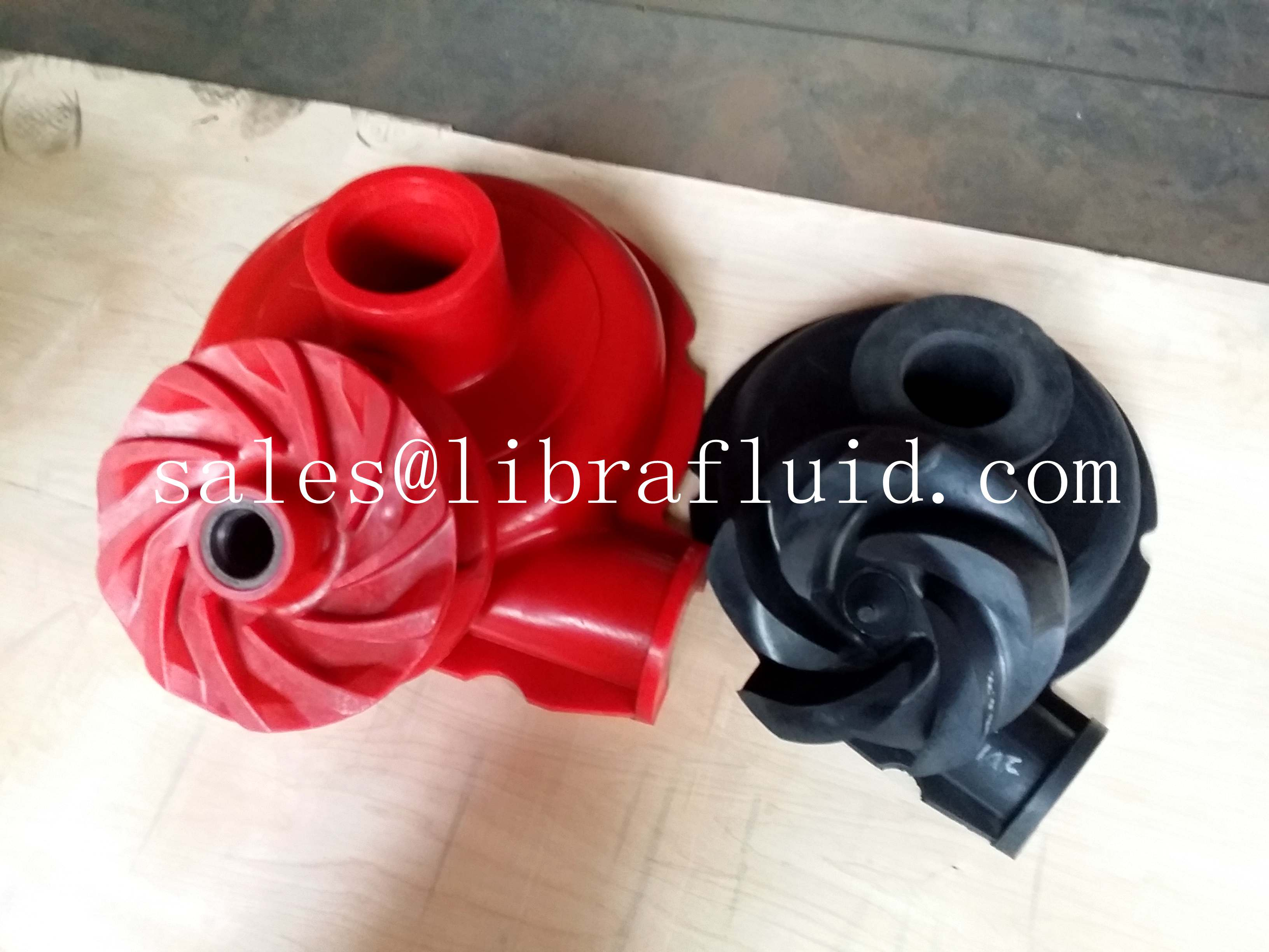 Polyurethane and hypalon impeller