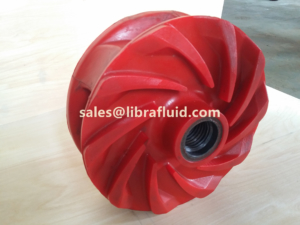 Polyurethane slurry pump impeller