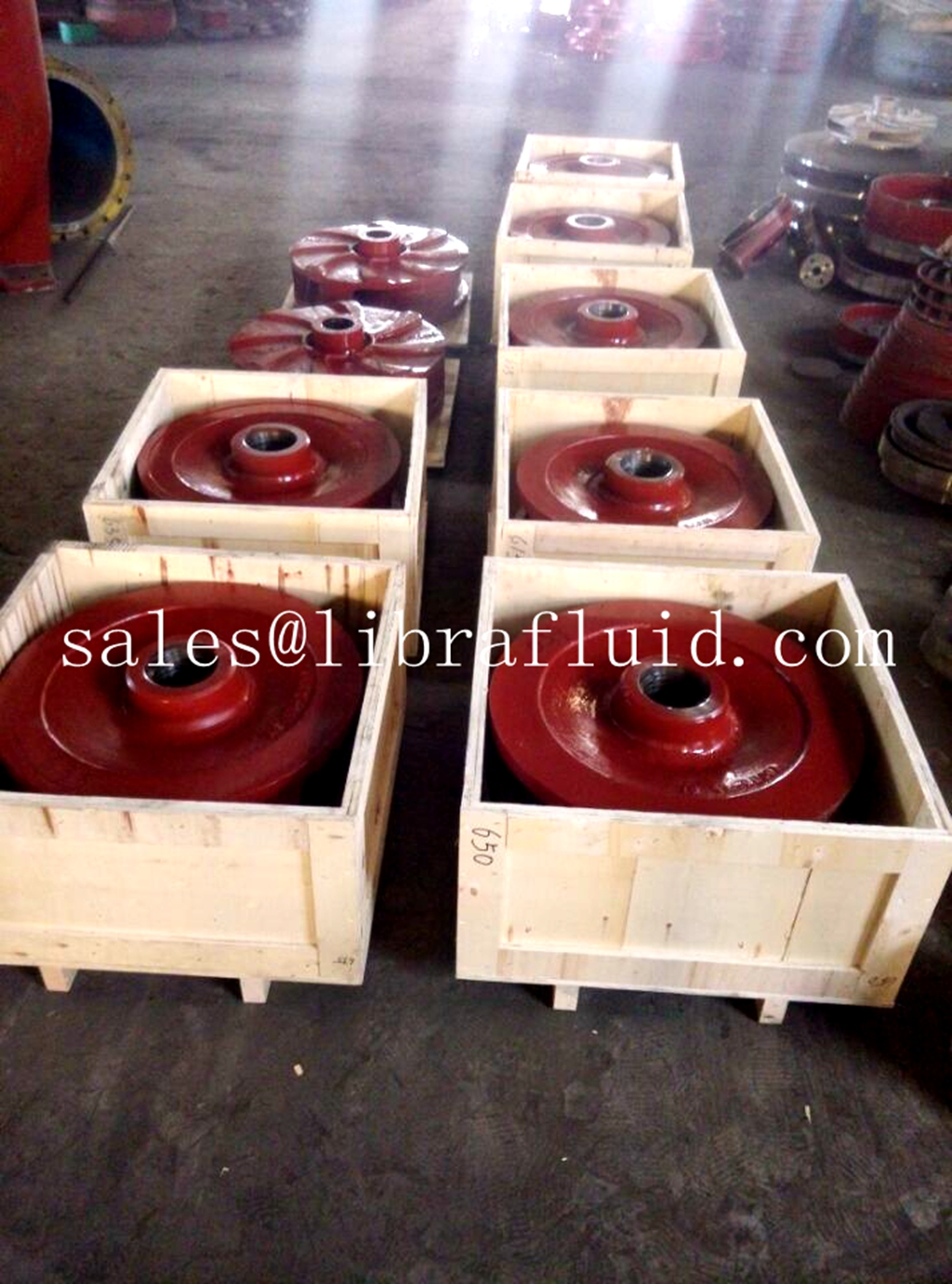 slurry pump spares ready to send