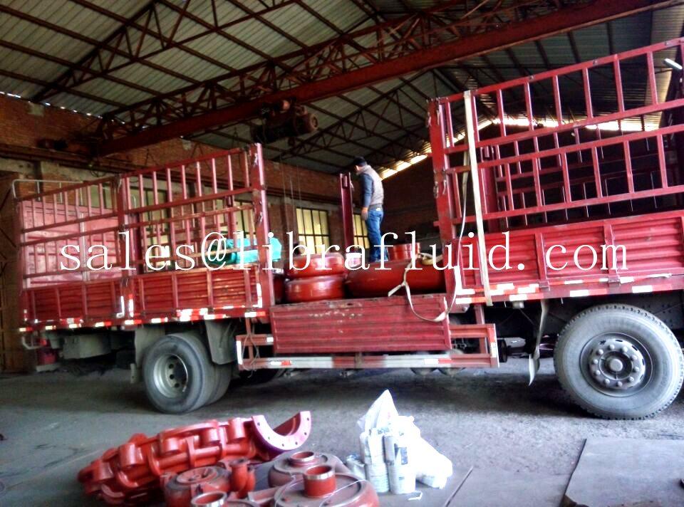 Vertical slurry pump and slurry pump parts send to mine (4)