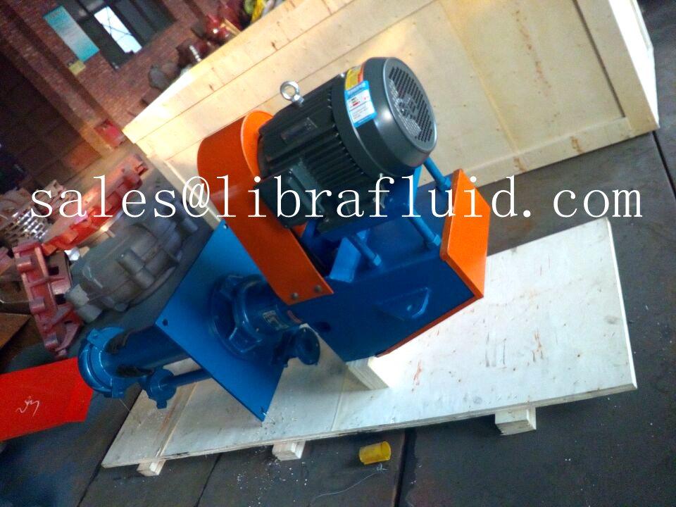 Vertical slurry pump under packing