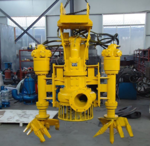 Hydraulic submersible agitator slurry pump