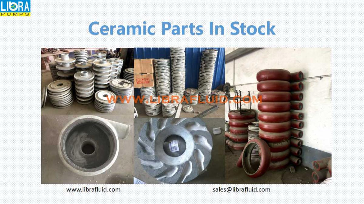 Ceramic slurry pump parts in stock