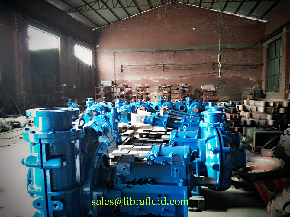 Slurry pumps under assembly