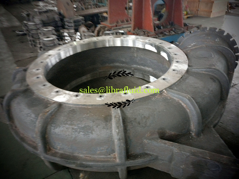 High chrome dredge pump casing