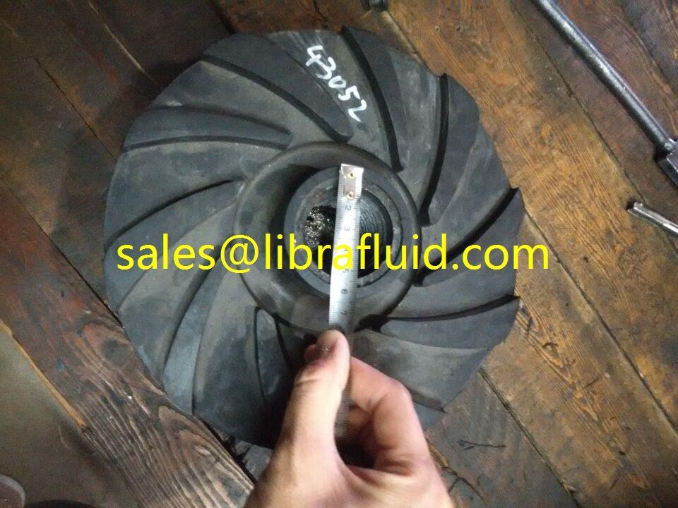 4x3 SC slurry pumps rubber impeller