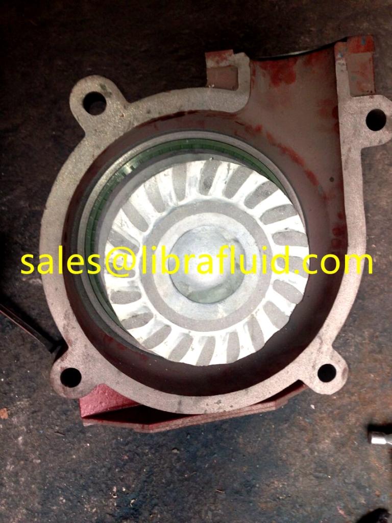 Ceramic slurry pump part assembly into 4x3 slurry pump
