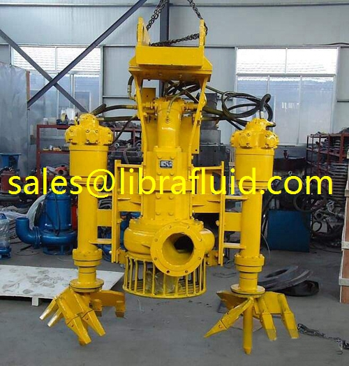 Hydraulic driven submersible sand suction dredging pump