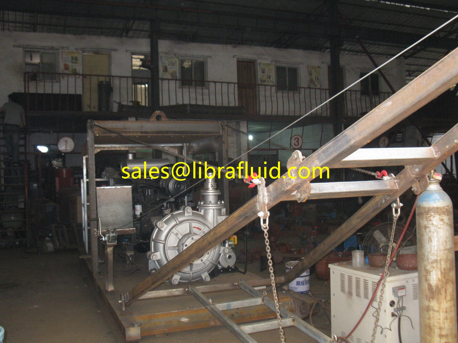 slurry pump with diesel engine for Indonesia client