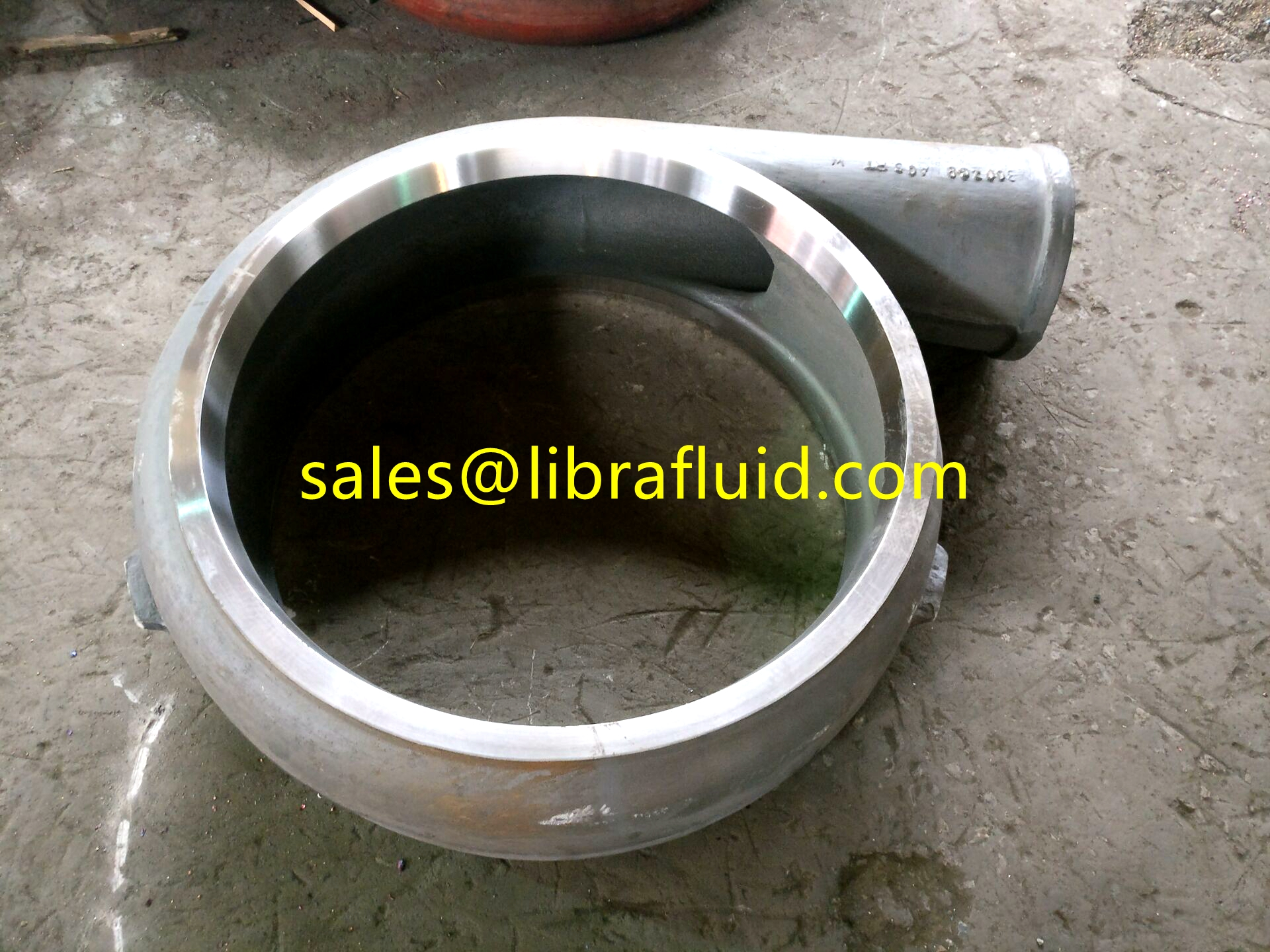 High Chrome slurry pump volute liner after machining process