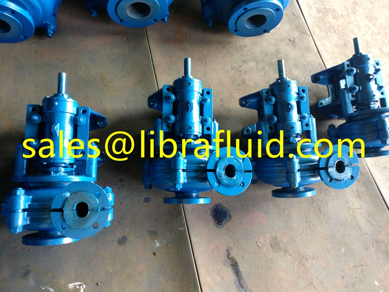 Rubber Liner Slurry Pump with rubber impeller
