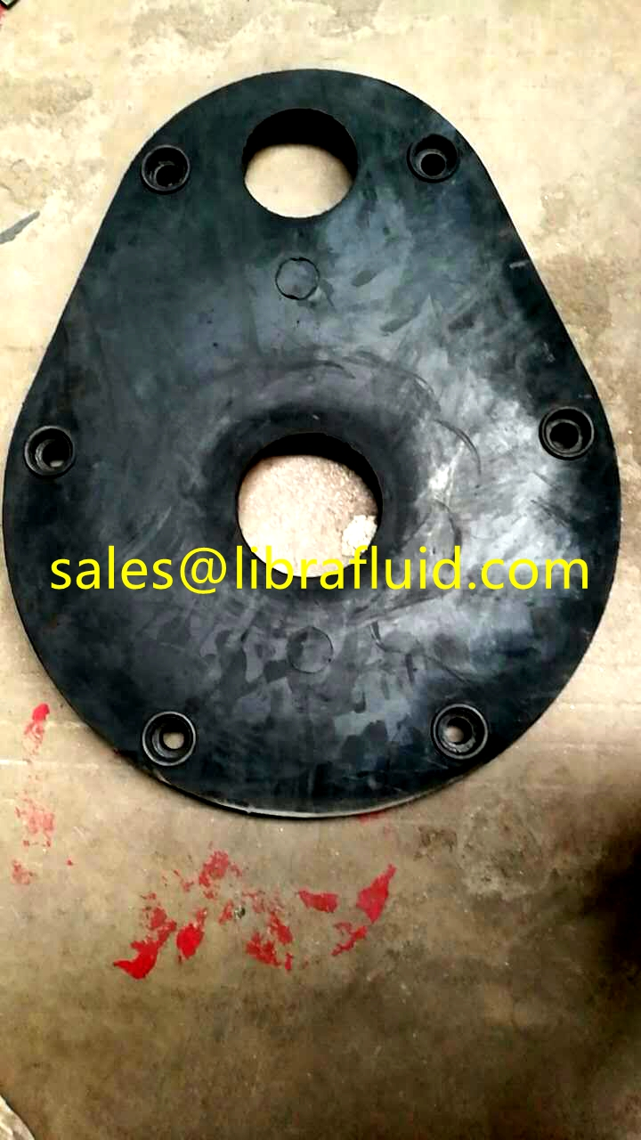 Rubber back liner for vertical slurry pump