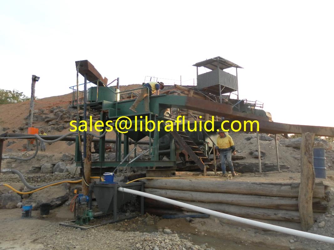 small rubber slurry pump on Tin mine