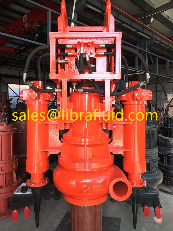 Hydraulic Submersible slurry Pump with side cutters for dredging river sand