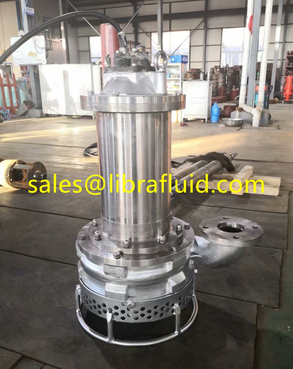 Stainless steel Submersible slurry pump for chemical slurry condition