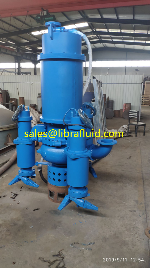 Submersible slurry dredge pump