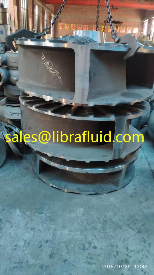 Dredge slurry pump impeller