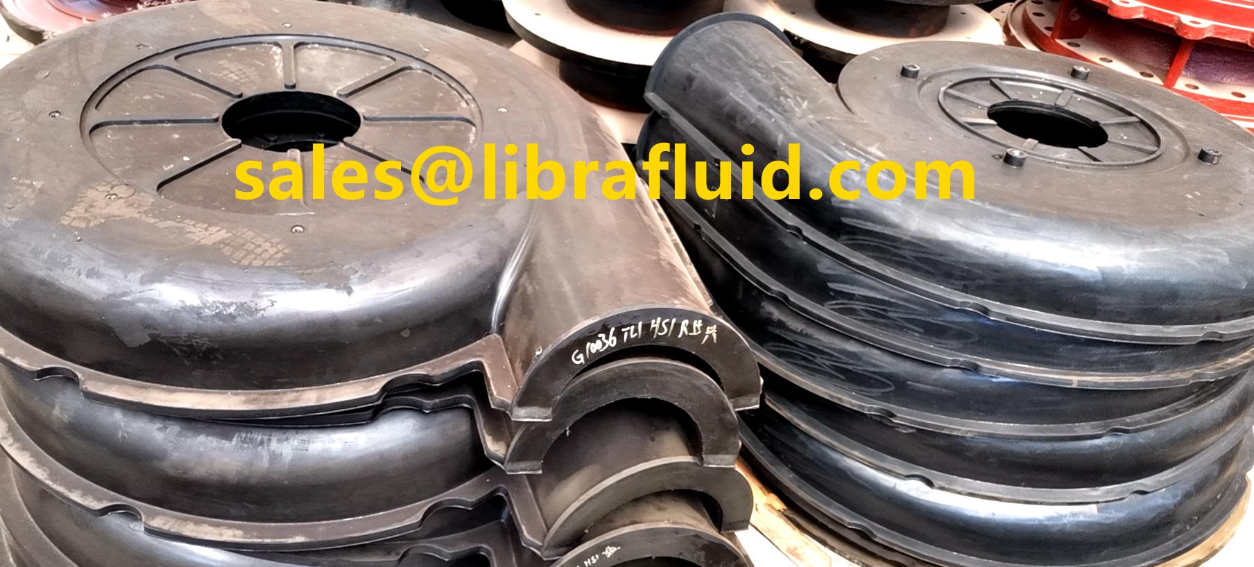 12/10ST-AH slurry pump rubber frame plate liner